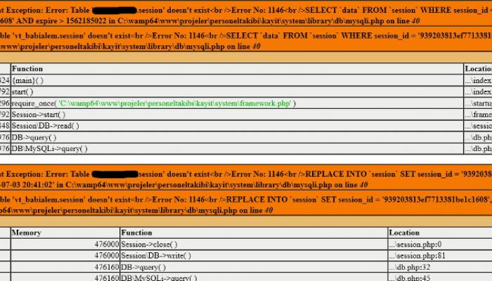 Fatal error: Uncaught Exception: Error: session opencart